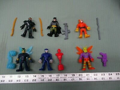Fisher Price Imaginext series 7 Complete lot of 6 figures DC red hood Bruce Part