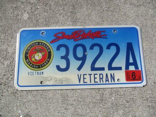South Dakota Vietnam Veteran Marine Corps 2011 license plate  #  3922A