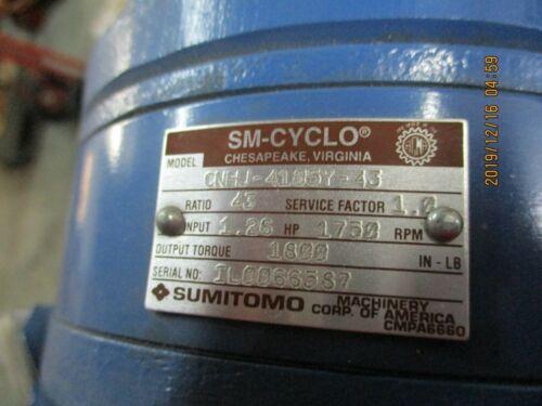 NEW, OPEN BOX, SUMITOMO CNHJ-41054-43 SPEED REDUCER, 43:1 RATIO.