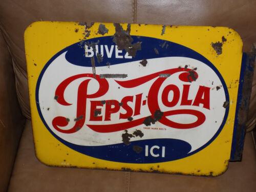 Pepsi Cola French Flange Sign