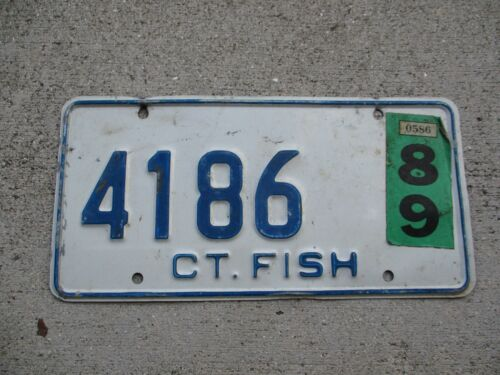 Connecticut 1989 FISH license plate #  4186