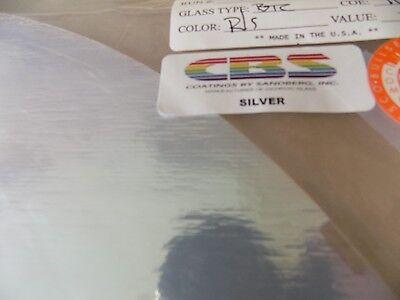 """Dichroic Glass: CBS 90COE Silver on Flat Thin Clear 3"""" Sq"""