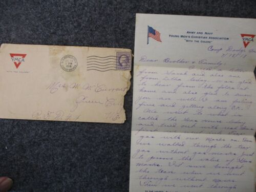 WWI Letter Sent by PVT Oscar Current to his Family in Queen City, Missouri #10