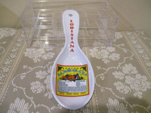 Louisiana Seafood Jambalaya Acrylic Spoon Rest  (1pc)