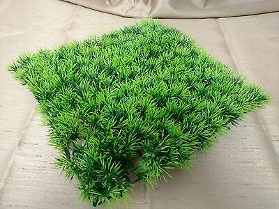 "GREEN GRASS AQUARIUM FISH TANK BOWL DECORATION ORNAMENT ARTIFICIAL PLANT 9"" X 9"""