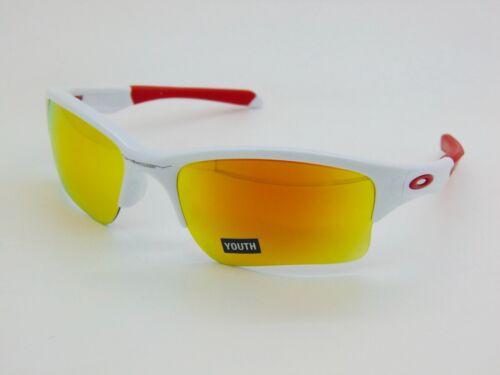 OAKLEY Youth QUARTER JACKET OO9200-03 Polished White/Fire Iridium Sunglasses