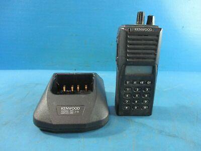 Kenwood Tk-380 Tk380 Uhf Handheld Radio And Charging Dock - Used