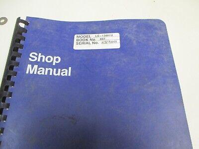 Link Belt Ls-138h Ii Repair Shop Manual