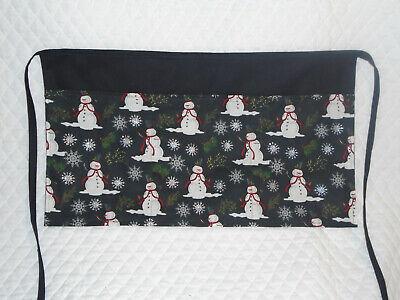 Waitressserver Apron Christmas Snowman Design
