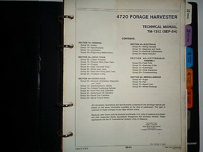 John Deere 4720 Forage Harvester Technical Repair Service Shop Workshop Manual