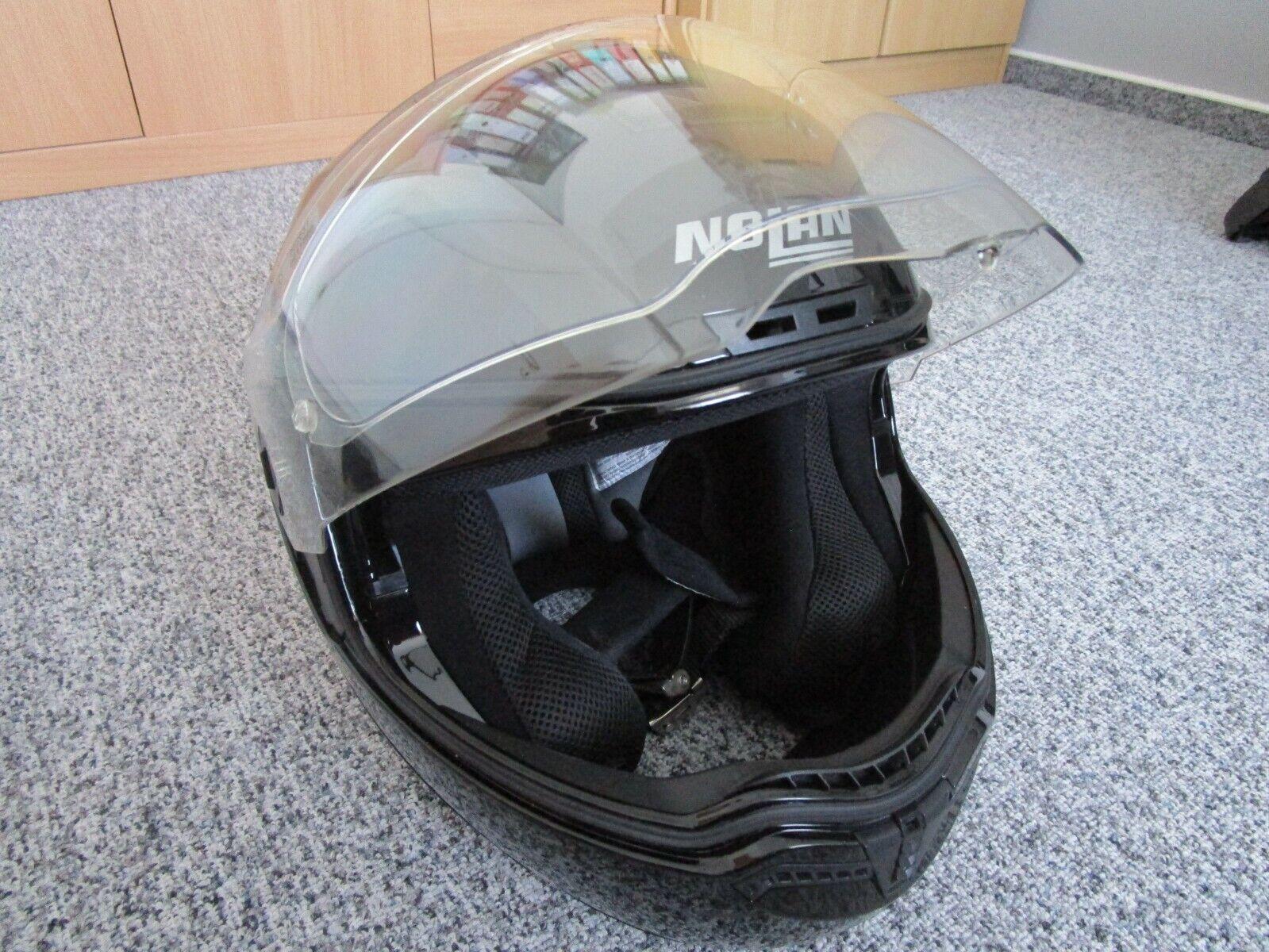 Nolan N104 ABSOLUTE ITALY Klapphelm Motorrad Polycarbonat n-com Metall weiss Gr/ö/ße XL