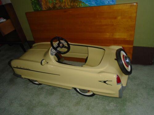 Kidillac Pedal Car Garton Chain Drive 1955 Yellow Cadillac 100% Complete BEAUTY