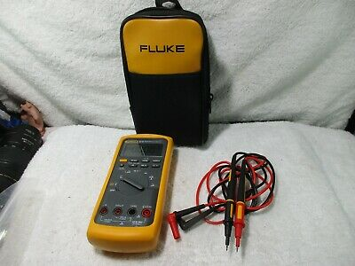 Very Clean Used Fluke 87v True Rms Digital Multimeter W Leads Works 87-5 87 V