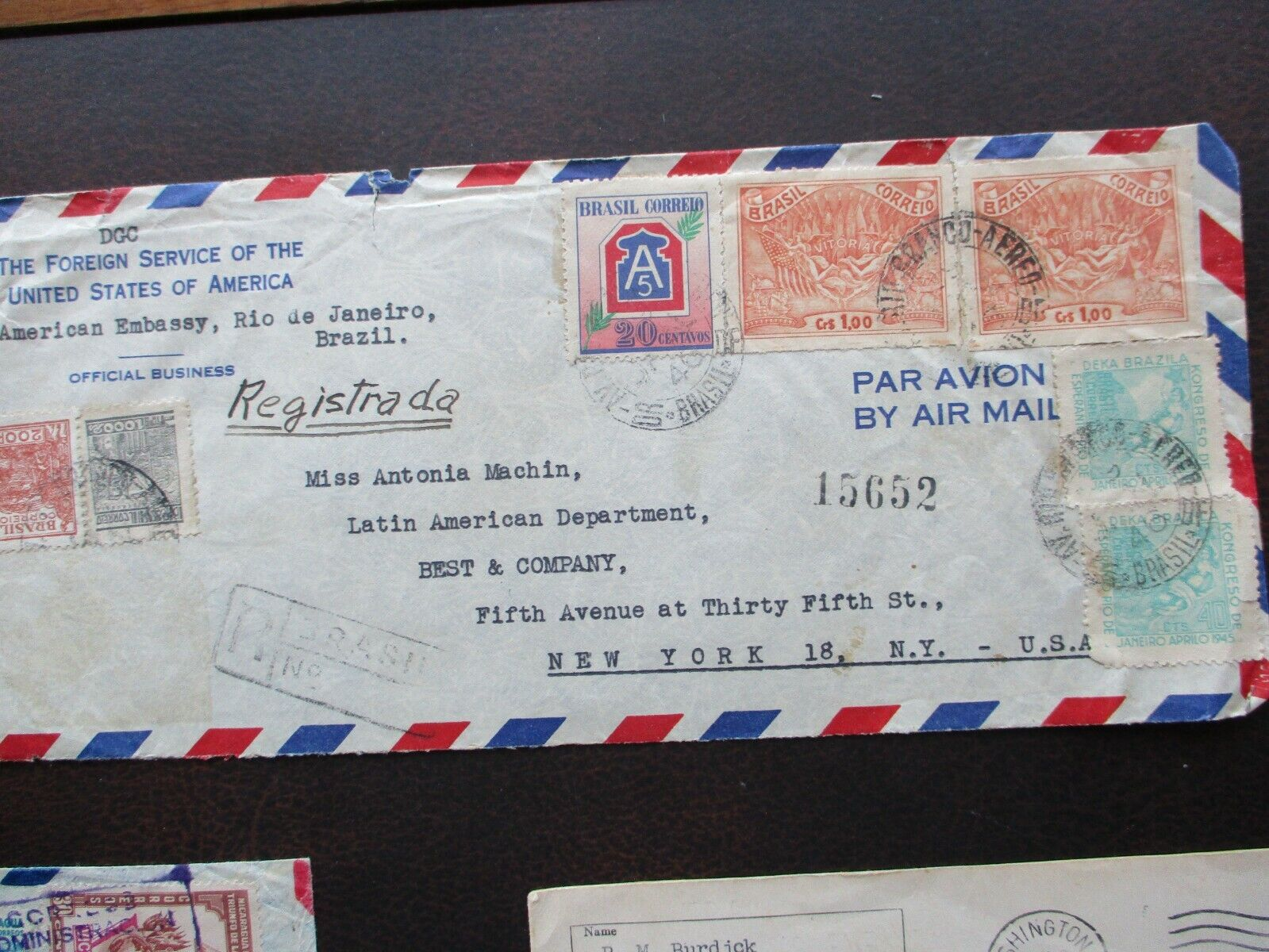 1900 s 6 Overseas To United States Postmarks,stamps,unresearched Cover Lot  - $9.99