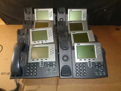 Lot Of 8 Cisco Systems Cp-7961g Ip Phone 7961 Series 1whandset No Power Supp