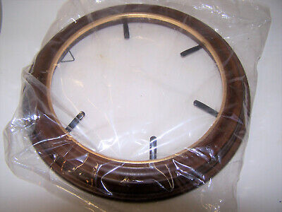 "Van Hygan & Smythe Wood Walnut  Collector Plate Frame for 8.5"" 5-prong CS93 gold"