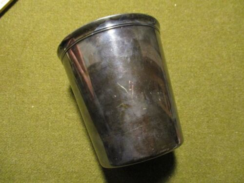 vintage CHRISTOFLE Silver Plate Tumbler. 4 inch tall