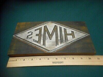 Antique Letterpress Printing Printer Block Press Himes Coal Co. Grand Rapids