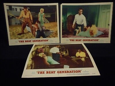 Mamie Van Doren The Beat Generation 1959 3 Lobby Card Lot Exploitation