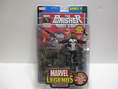 MARVEL LEGENDS SERIES 4  PUNISHER W/  COMIC AND STAND