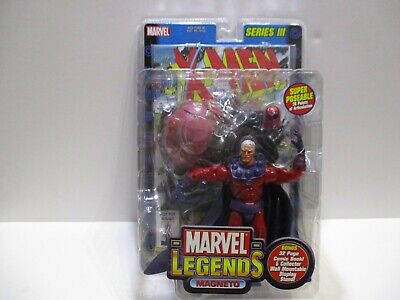 MARVEL LEGENDS SERIES 3 MAGNETO W/ COMIC AND WALL MOUNT