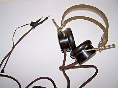 1917 Nathaniel Baldwin Radio Co. Headset Headphone 2 Earpiece Set Bakelite Works