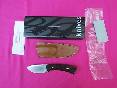Beretta Hunting Knife Made by Fox Knives with N690 Steel and Leather Sheath Beretta Leather Knife