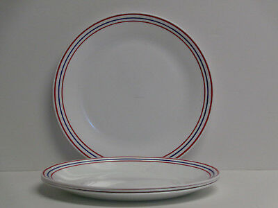 4 Corelle Harbor Town Dinner Plates 10-1/4
