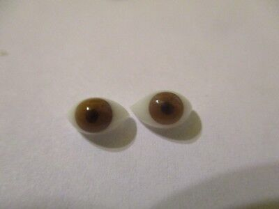 1 PAIR 6 to 22mm German Glass Doll EYES OVAL Pinch Back Choose Size/&Color  OV-1