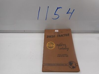 Caterpillar Dw20 Tractor Parts Catalog Aug 1954 6w275-up Form 31239