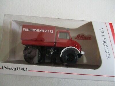 Miniatur 1/64 Unimog U 406 Feuer Brigade Feuerwehr Schuco (Miniatur 1 64)