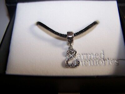 KAY JEWELERS J SEYMOUR SWAROVSKI CRYSTAL OPEN HEART STERLING SILVER CHARM Crystal Open Heart Charm