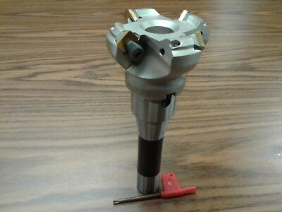 2-12 45 Degree Indexable Face Shell Mill R8 Arbor Face Milling Cutter -new