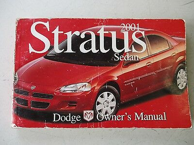 DODGE STRATUS Owners Manual  2001