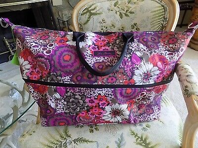 Vera Bradley Lighten Up expandable Travel Bag Large Rosewood STOCK PHOTO