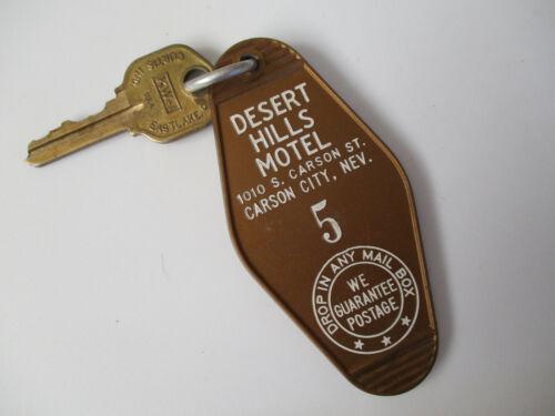 vintage Desert Hills Motel Carson City Nevada Casino Hotel Room Key Fob Tag