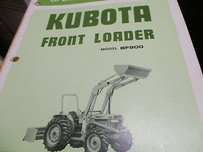 Kubota Bf900 Front Loader Operators Manual