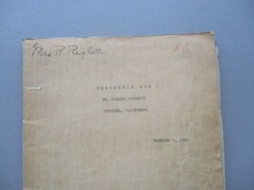 1928 (50 pc) Warren Charles Perry (San Francisco Architect) Signed letter lot!