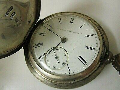 Vintage Elgin Coin Silver Key Wind/Key Set No Key. 18s 11j Runs. 210g