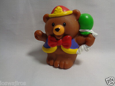 2003 Mattel Little People Fisher Price Brown Circus Bear w/ Bunch of Balloons - Price Of Balloons