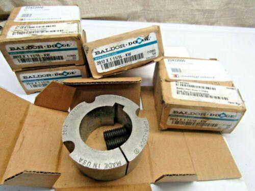 """Lot of 5 Dodge 117093 2012 X 1-11/16 KW 1-11/16"""" Taper Lock Bushing"""