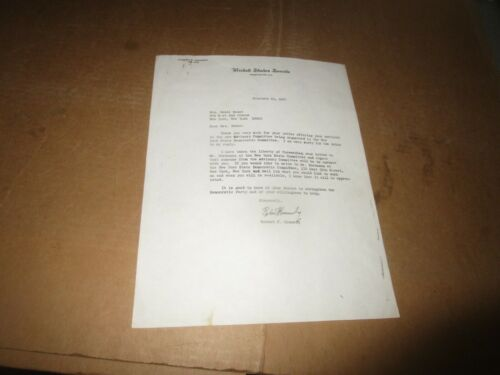 1967 ROBERT F. KENNEDY U.S. Senate AUTOPEN SIGNED LETTER re: Ted Sorensen