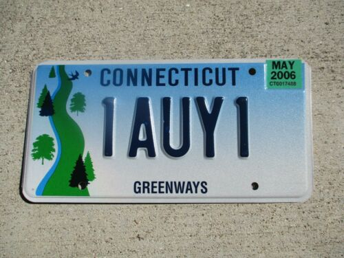 Connecticut 2006 Greenways license plate  #  1AUY1