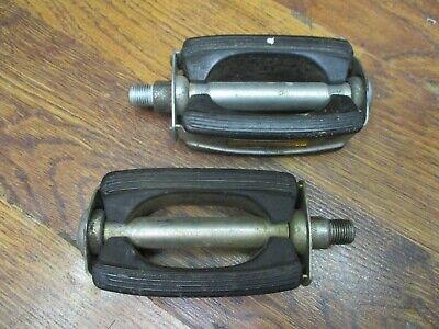 "Schwinn Krate Bicycle Pedals Vintage Cruiser Bike Bow Style BLACK Pedal 1//2/"""