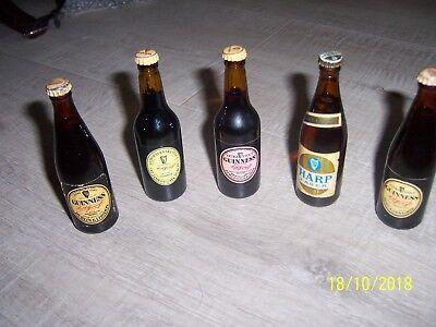 Miniature Guinness Bottles  Vintage Guinness Bottles In Miniature x 5 FULL