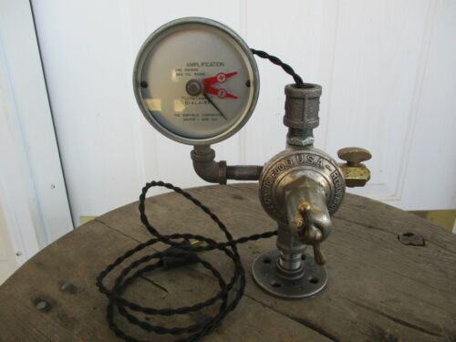 Vintage Antique Steampunk Lamp Base Parts Lot With Cord and Plug