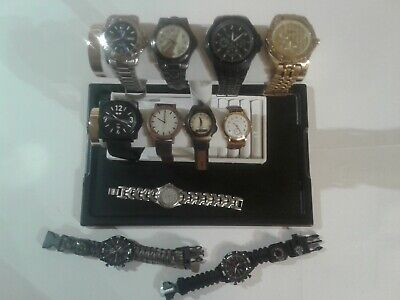 Lot of 11 Different Amazing Men's Watches  9 Working, 2 Need Batteries