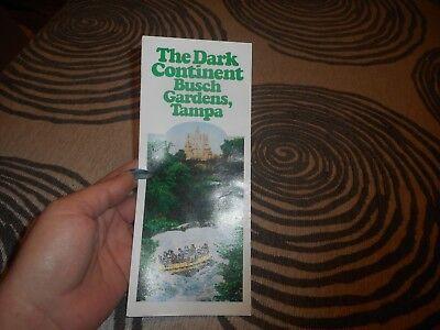 Vintage 1982 The Dark Continent Busch Gardens