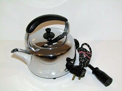Vintage Retro Hotpoint Chrome Plated Hi-Speed Electric Kettle CAT 4022.  3 PINTS