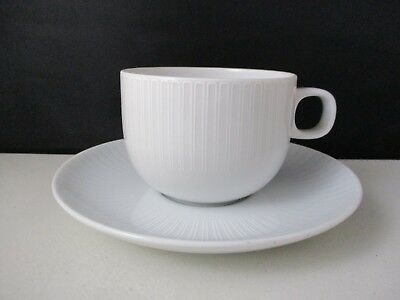 ROSENTHAL MOON WHITE CUP & SAUCER - 2 3/8